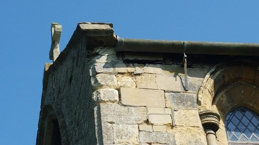 Detail of decayed stones