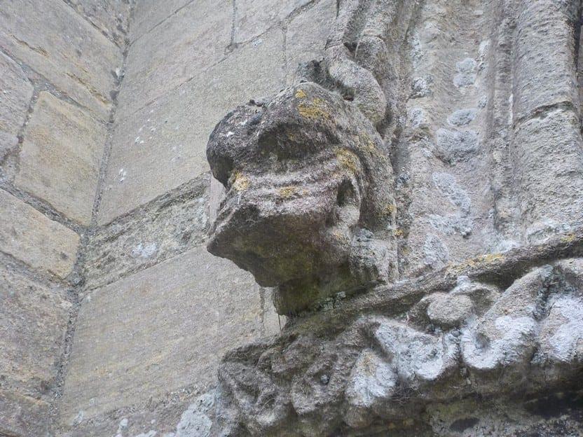 Detail of lion head, north door